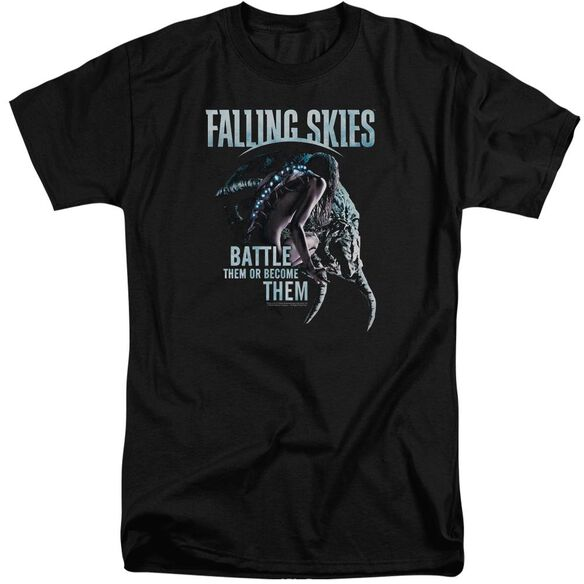 Falling Skies Battle Or Become Short Sleeve Adult Tall T-Shirt