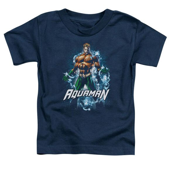 Jla Water Powers Short Sleeve Toddler Tee Navy T-Shirt