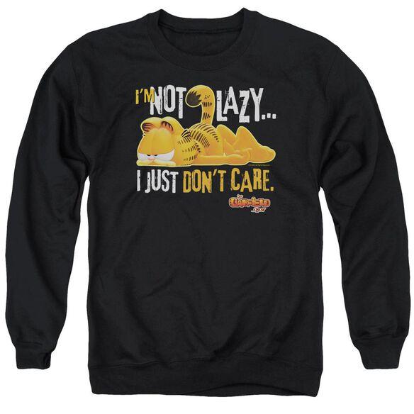 Garfield Not Lazy - Adult Crewneck Sweatshirt - Black