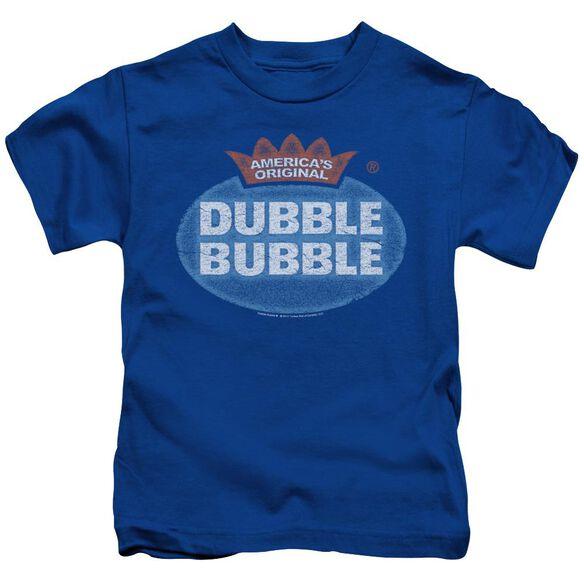 Dubble Bubble Vintage Logo Short Sleeve Juvenile Royal T-Shirt