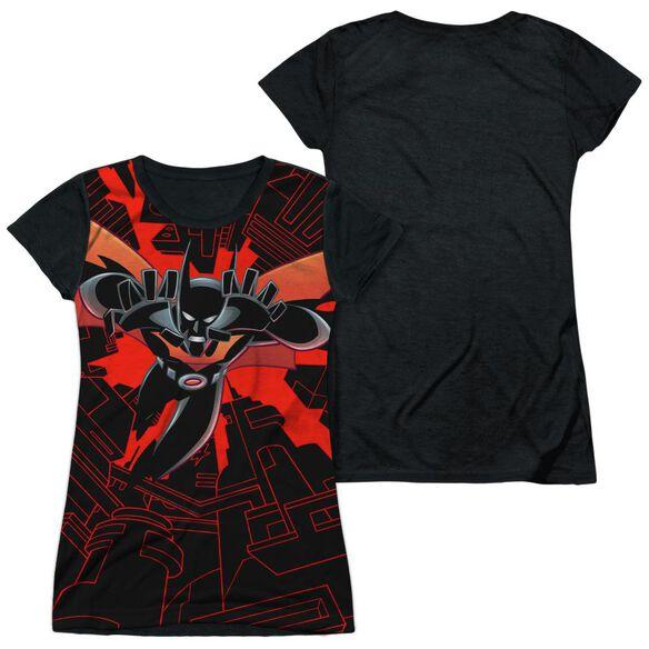 Batman Beyond Drop Down Short Sleeve Junior Poly Black Back T-Shirt