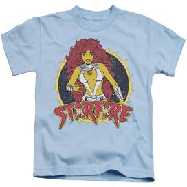 Dc Starfire Short Sleeve Juvenile Light Blue T-Shirt
