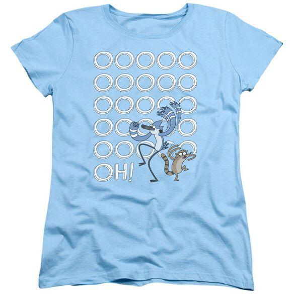 The Regular Show Oooooh Short Sleeve Womens Tee Light T-Shirt