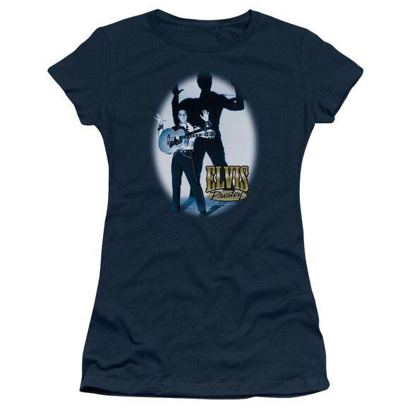 Elvis Hands Up Short Sleeve Junior Sheer T-Shirt