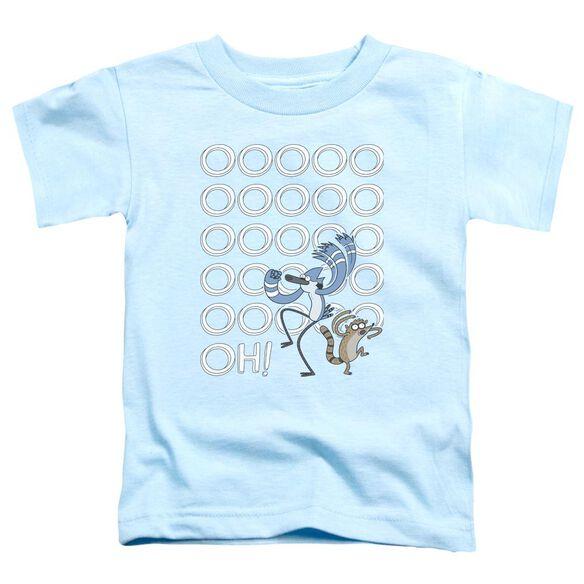 The Regular Show Oooooh Short Sleeve Toddler Tee Light Blue T-Shirt