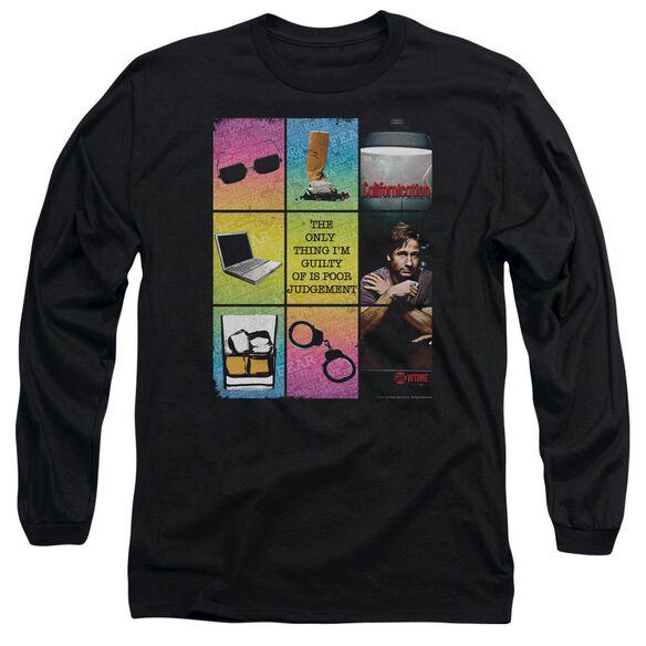 CALIFORNICATION POOR JUDGEMENT - L/S ADULT 18/1 - BLACK T-Shirt