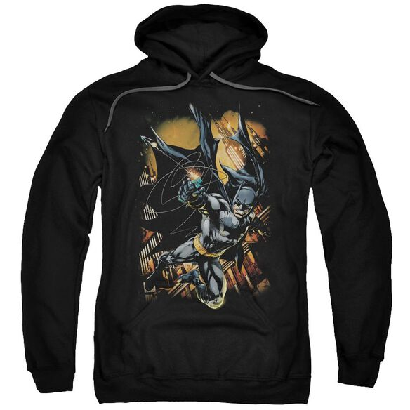 Batman Grapple Fire Adult Pull Over Hoodie