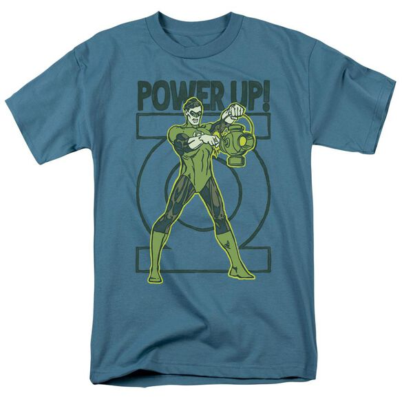 Green Lantern Power Up Short Sleeve Adult Slate T-Shirt