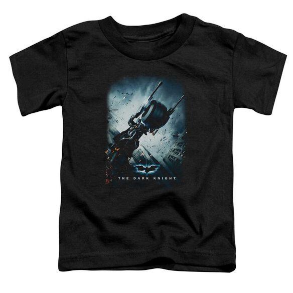 Dark Knight Bat Pod Poster Short Sleeve Toddler Tee Black T-Shirt