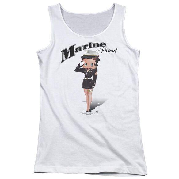 Betty Boop Marine Boop Juniors Tank Top