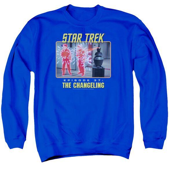 St Original The Changeling Adult Crewneck Sweatshirt Royal
