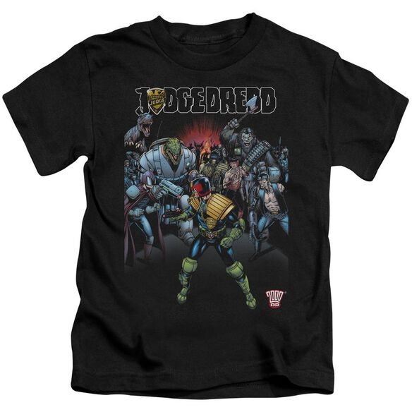 Judge Dredd Behind You Short Sleeve Juvenile Black T-Shirt
