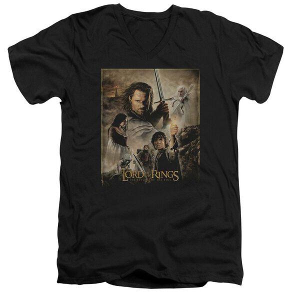 Lor Rotk Poster Short Sleeve Adult V Neck T-Shirt