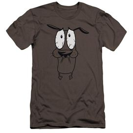 Courage The Cowardly Dog Scared Premuim Canvas Adult Slim Fit