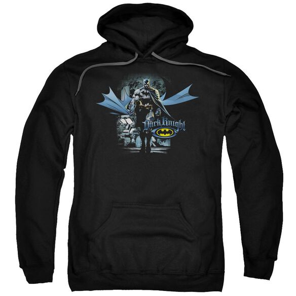 Batman From The Depths Adult Pull Over Hoodie Black