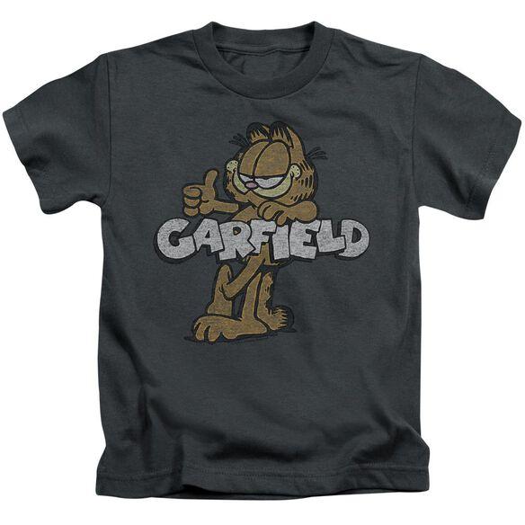 GARFIELD RETRO GARF - S/S JUVENILE 18/1 - CHARCOAL - T-Shirt
