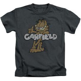 Garfield Retro Garf Short Sleeve Juvenile Charcoal Md T-Shirt