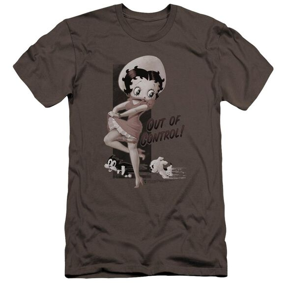 Betty Boop Out Of Control Premuim Canvas Adult Slim Fit