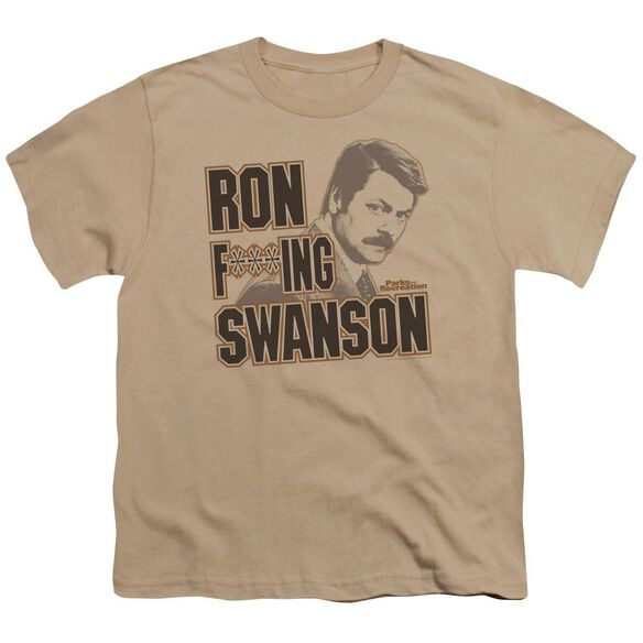 Parks And Rec Ron F***Ing Swanson Short Sleeve Youth T-Shirt