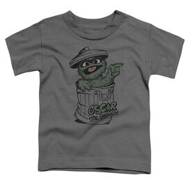 Sesame Street Early Grouch Short Sleeve Toddler Tee Charcoal T-Shirt