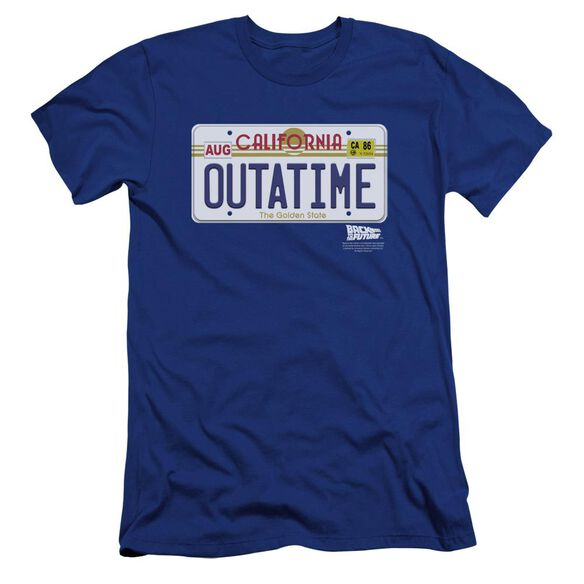 Back To The Future Outatime Plate Premuim Canvas Adult Slim Fit Royal