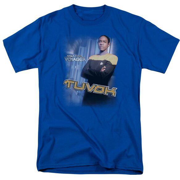 Star Trek Tuvok Short Sleeve Adult Royal T-Shirt