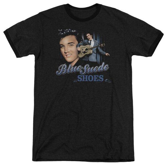 Elvis Presley Blue Suede Shoes Adult Heather Ringer