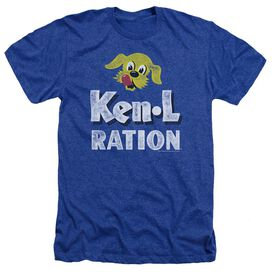 Ken L Ration Distressed Logo Adult Heather Royal