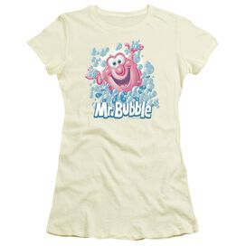 Mr Bubble Modern Bubble Short Sleeve Junior Sheer T-Shirt