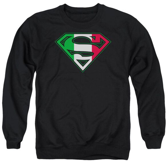 Superman Italian Shield Adult Crewneck Sweatshirt