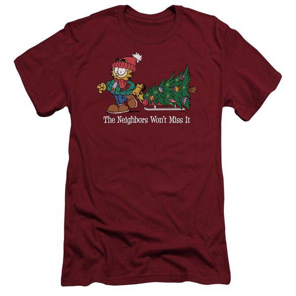 Garfield Won't Miss It Short Sleeve Adult T-Shirt