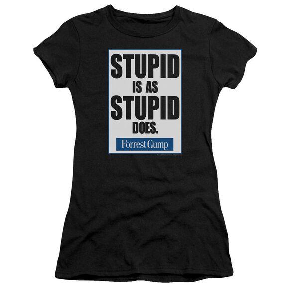 Forrest Gump Stupid Is Short Sleeve Junior Sheer T-Shirt