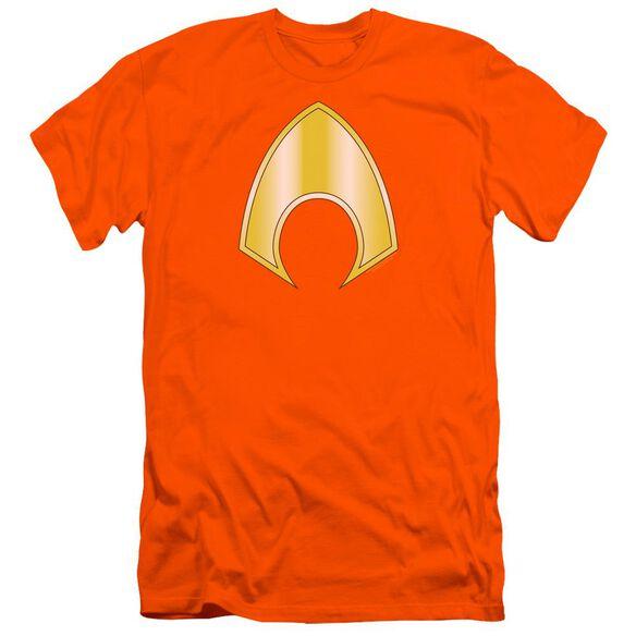 Jla Aquaman Logo Premuim Canvas Adult Slim Fit