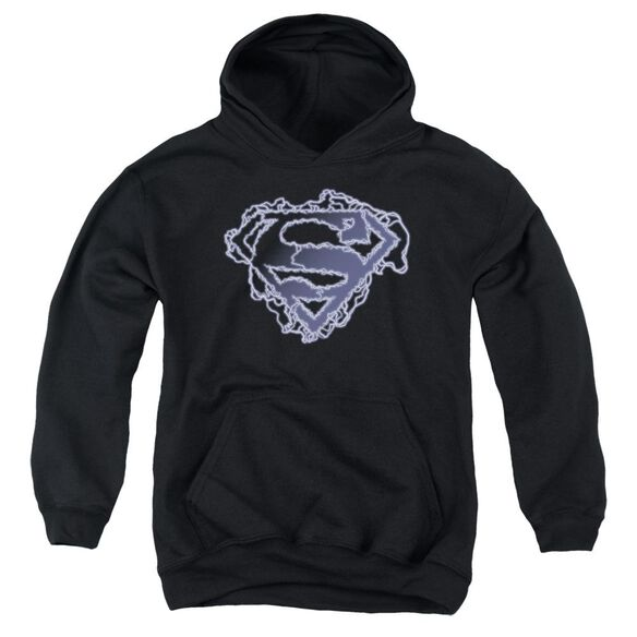 Superman Electric Supes Shield Youth Pull Over Hoodie