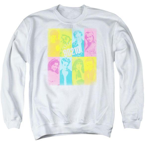 90210 Color Block Of Friends Adult Crewneck Sweatshirt