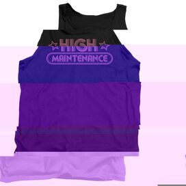 High Maintenance - Adult Tank - Black