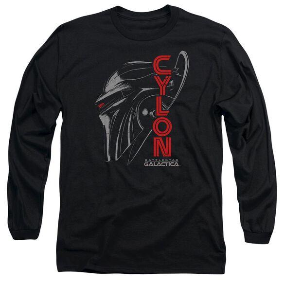 Bsg Cylon Face Long Sleeve Adult T-Shirt