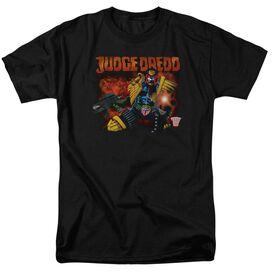 Judge Dredd Through Fire Short Sleeve Adult T-Shirt