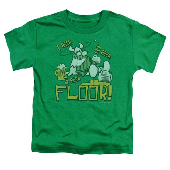 Hagar The Horrible 1 2 3 Floor Short Sleeve Toddler Tee Kelly Green T-Shirt