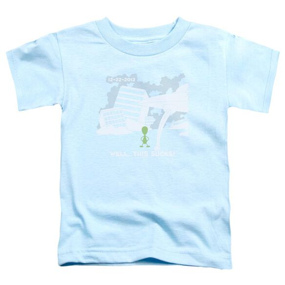 Late To The Party Short Sleeve Toddler Tee Light Blue Lg T-Shirt
