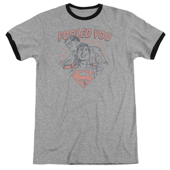 Dc Fooled You Adult Ringer Heather Black