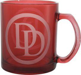 Daredevil Logo Etched Glass Mug