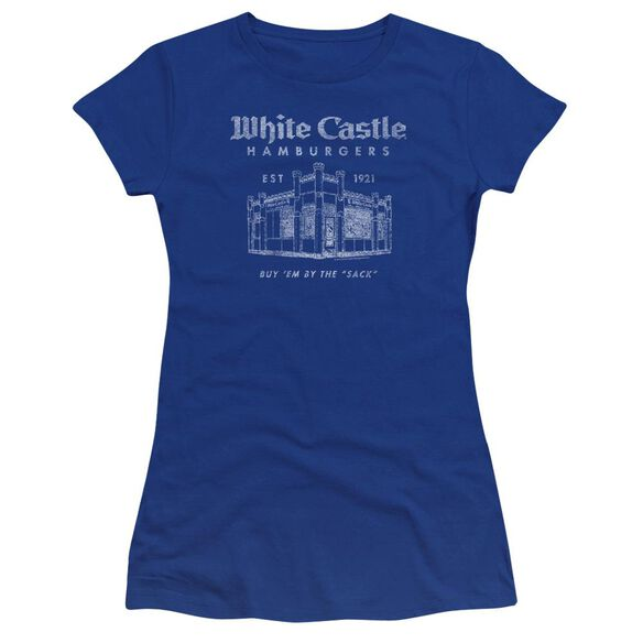 White Castle By The Sack Hbo Short Sleeve Junior Sheer Royal T-Shirt
