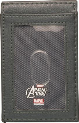 Captain America Metal Badge ID Card Wallet