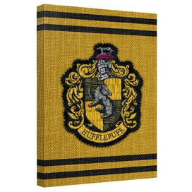 Harry Potter Hufflepuff Stitch Crest Canvas Wall Art With Back Board
