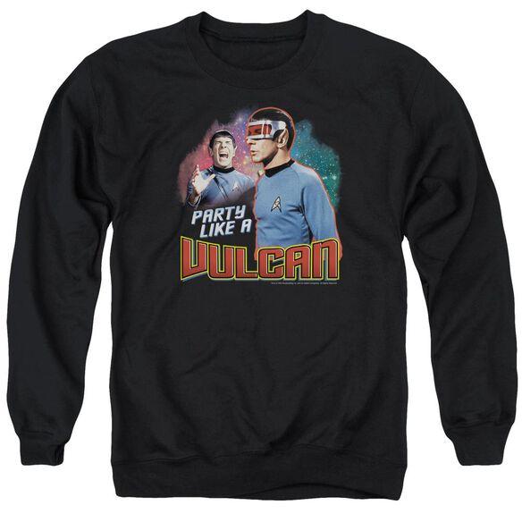 Star Trek Party Like A Vulcan Adult Crewneck Sweatshirt