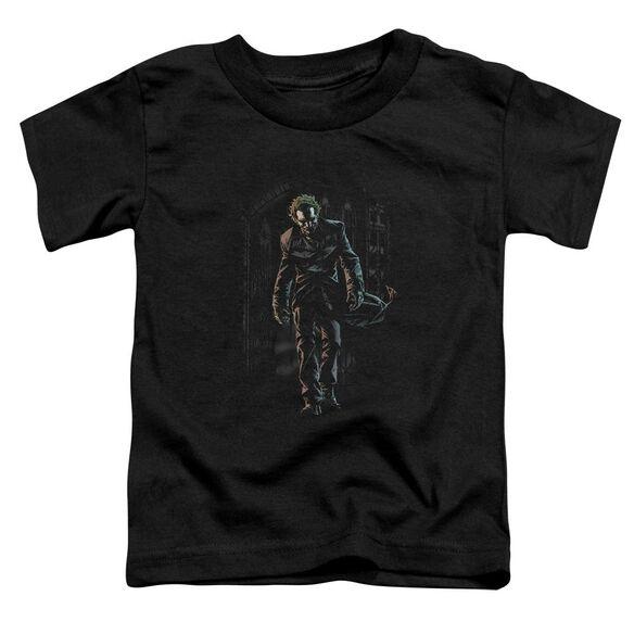 Batman Joker Leaves Arkham Short Sleeve Toddler Tee Black Lg T-Shirt