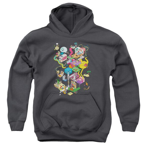 Uncle Grandpa Inside The Rv Youth Pull Over Hoodie