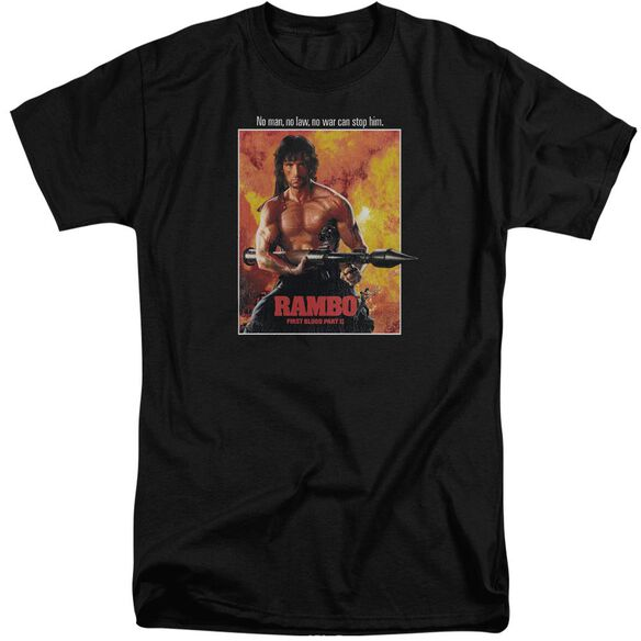 Rambo: First Blood Ii Poster Short Sleeve Adult Tall T-Shirt