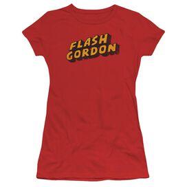 Flash Gordon Logo Short Sleeve Junior Sheer T-Shirt